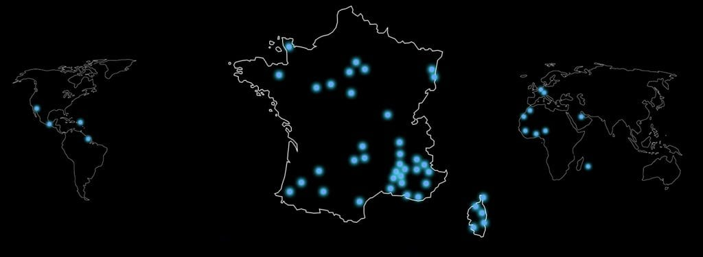 Carte emplacement projets LUMI'IN
